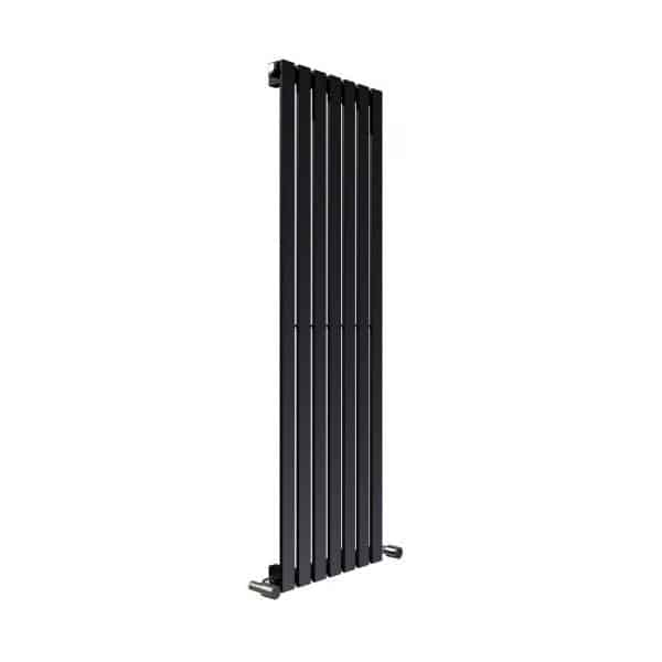 Hailwood Vertical Decorative Wall Mounted Radiators for Central Heating Black 1
