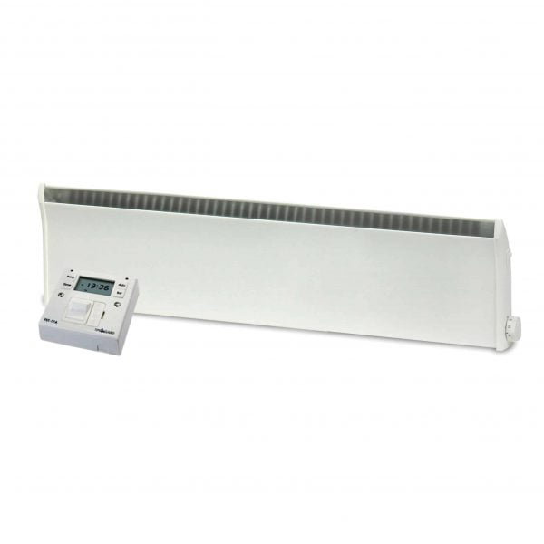 Adax Norel Electric Thermostatic Low Profile / Skirting Panel Heater with Fused Spur Timer 1