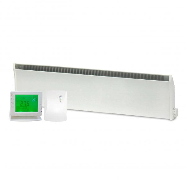 ADAX Norel Electric Thermostatic Low Profile / Skirting Panel Heater with Wireless Timer & Thermostat 1