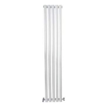 MOUNTAIN Round Tube Designer Vertical Radiator, Tall, White – Central Heating