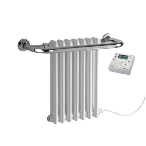 Parliament Traditional Victorian Radiator with Towel Rail Electric with Fused Spur Timer 1