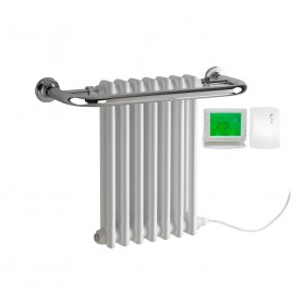Parliament Traditional Victorian Radiator with Towel Rail Electric PTC with PR-1 Wireless Timer & Thermostat 1