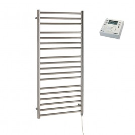 Braddan Stainless Steel Electric PTC Heated Ladder Towel Rail – with Fused Spur Timer 1