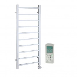 Thermostatic Remote Control Electric Heated Towel Rail – The Ballaugh – Thermostatic Remote Controlled Electric Ladder Towel Rail 1