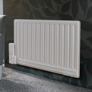 Slim Oil-Filled Electric Radiator / Radiant Wall Mounted and Portable Heater + Thermostat