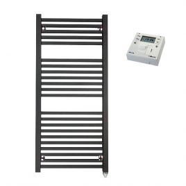 The Laurel Heated Towel Rail Electric PTC with Fused Spur Timer 1