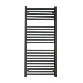 The Laurel Anthracite Square Tube Heated Towel Rail: Central Heating Towel Rail
