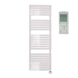 The Greeba White Designer Heated Towel Rail: Thermostatic Electric