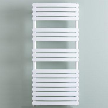 GREEBA Flat Tube Modern Heated Towel Rail / Warmer, White – Central Heating