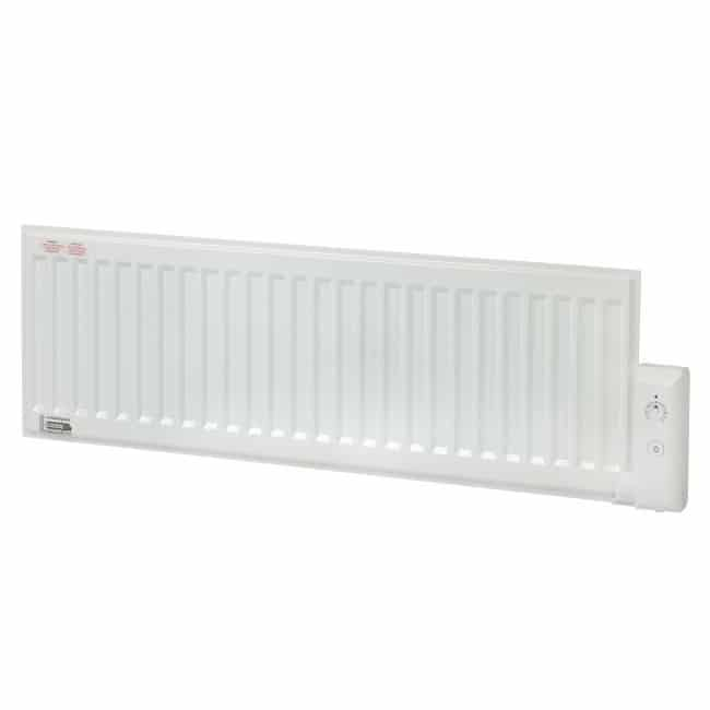 Electric Oil Radiator ~ Adax white low level thermostatic plug in electric oil
