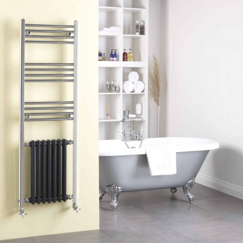 DUKE Traditional Victorian Heated Towel Rail & Column Radiator - Electric