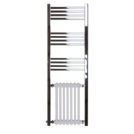 The Duke Traditional Victorian Hybrid Radiator and Chrome Towel Rail Central Heating