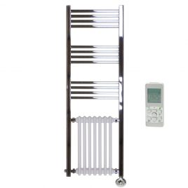 The Duke Traditional Victorian Hybrid Radiator and Towel Rail Thermostatic Electric Dual Fuel