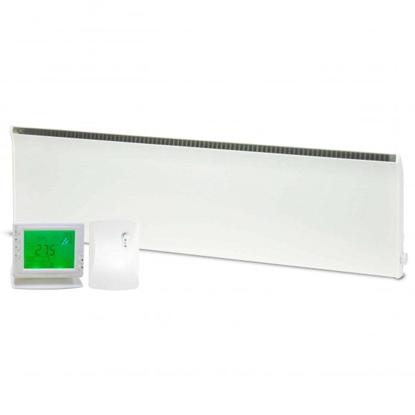 NOREL PM Electric Panel Heater / Convector Radiator, Wall Mounted + Wireless Timer, Thermostat