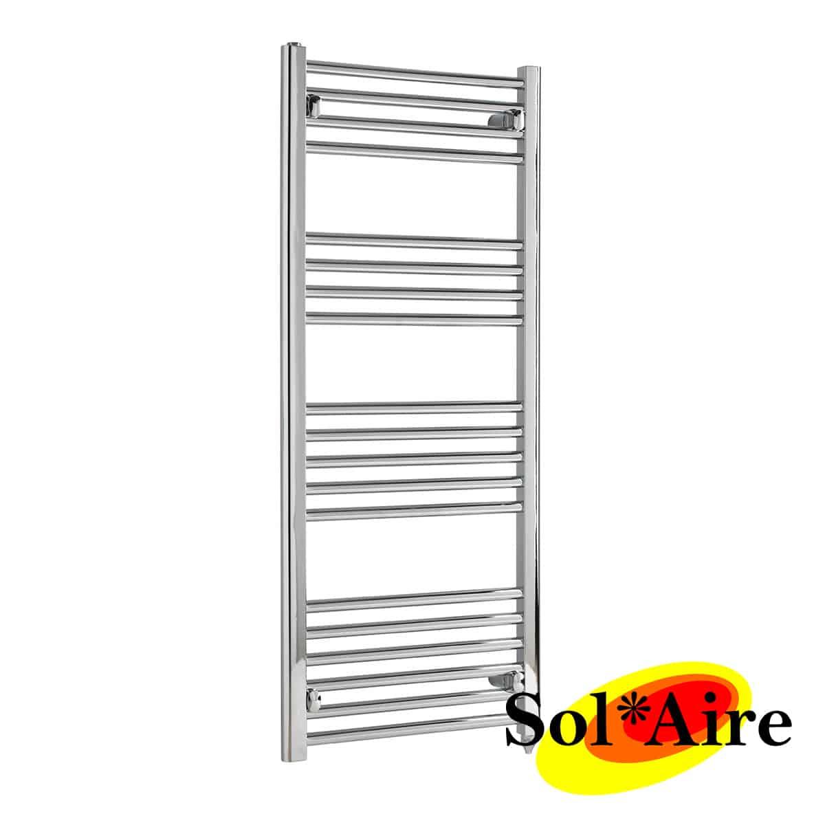 Rogerseller Fold Single 750 Heated Towel Rails: 600 X 1200 Chrome Electric Heated Towel Rail Rack Warmer