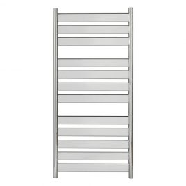 Flat Curved Bar Designer Chrome Central Heating Ladder Towel Rail Radiator