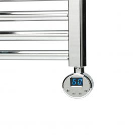 R1 Digital Thermostatic Electric Towel Rail Heating Element Chrome & White *Sale*