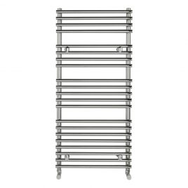 Tube On Tube 550 x 1600mm Designer Chrome Heated Towel Rail End Of Line Sale
