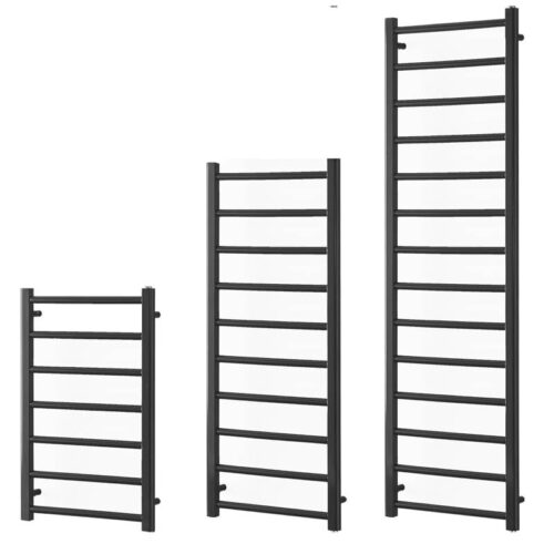 ALPINE Anthracite Modern Heated Towel Rail / Warmer Bathroom Radiator - Central Heating