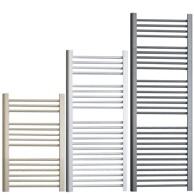 BRAY ELEMENTS Straight Heated Towel Rail / Warmer / Radiator - Central Heating