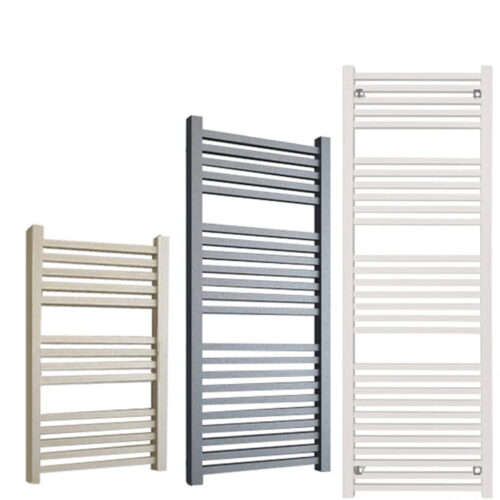 LAUREL ELEMENTS Square Tube Modern Heated Towel Rail / Warmer - Central Heating