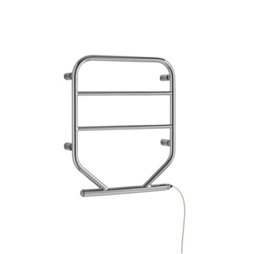 500 x 600 UNION Slimline, Small, 'D-Bend' Heated Towel Rail / Warmer / Dryer – Electric, CHROME