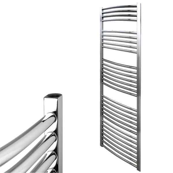 650x400mm Electric Straight Heated Towel Rail: Straight Chrome Heated Bathroom Towel Rail Dual Fuel