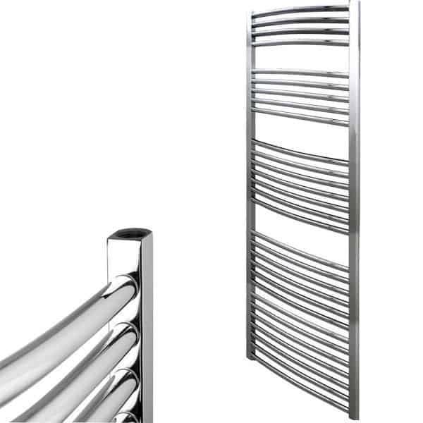 Straight Chrome Central Heated Bathroom Ladder Towel Rail The Bray