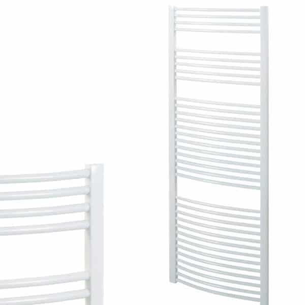 Straight White Central Heating Ladder Towel Rail The Bray