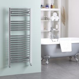 Straight Chrome Heated Bathroom Towel Rail Dual Fuel Electric Ptc The Bray
