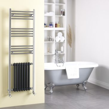 Traditional Victorian Column Radiator And Chrome Towel Rail Thermostatic Electric Dual Fuel The Duke