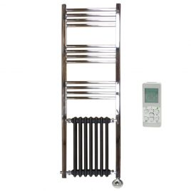 Traditional Victorian Column Radiator And Chrome Towel Rail Thermostatic Electric The Duke