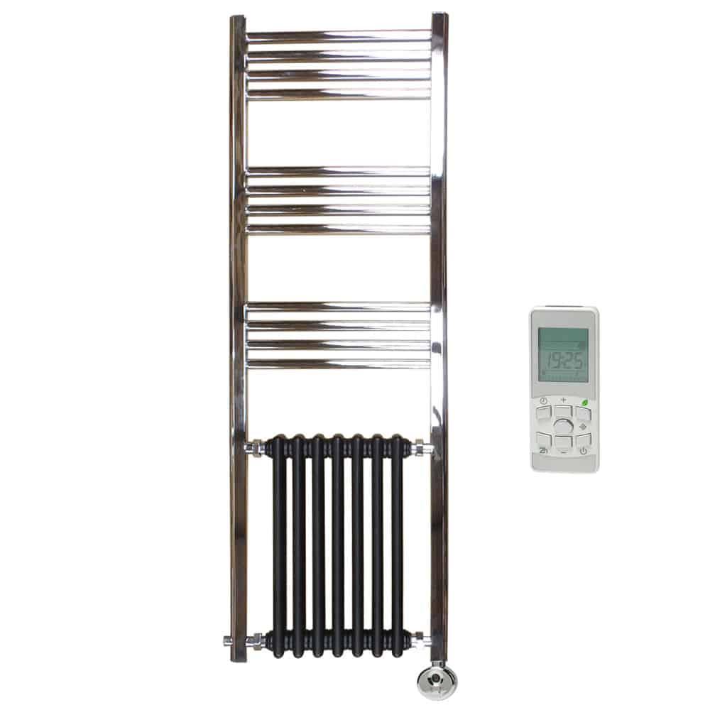 Duke traditional victorian heated towel rail radiator - Electric bathroom radiators with timer ...