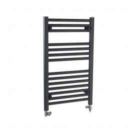 Straight Anthracite Heated Towel Rail Dual Fuel Electric Ptc The Bray
