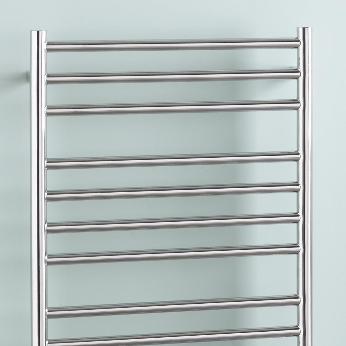 Braddan Stainless Steel Heated Towel Rail Warmer: Stainless Steel Heated Towel Rail Radiator