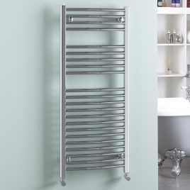 Straight Chrome Central Heated Bathroom Ladder Towel Rail The Bray