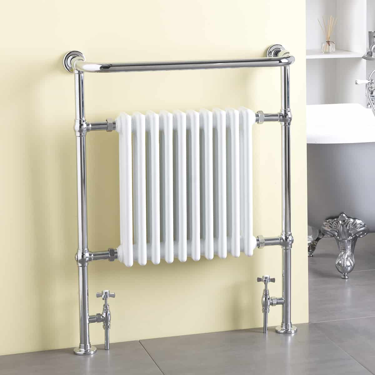 Ramsey Traditional Victorian Heated Towel Rail Dual Fuel