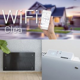 Adax Clea WiFi Glass Electric Splashproof Convection Radiator Panel Heater