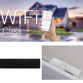 Adax Clea Skirting WiFi Glass Electric Convection Panel Heater