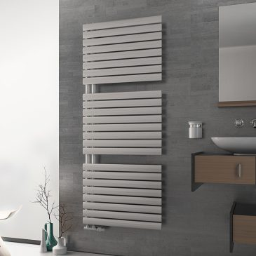 COLONIAL Side Arm Oval Tube Modern Heated Towel Rail / Warmer, White