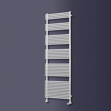 COPPICE Triangle Tube Modern Vertical Heated Towel Rail / Warmer/ Radiator, White