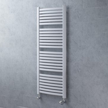 Crosby Curved Flat Bar Vertical Wall Mounted Central Heating Ladder Rail