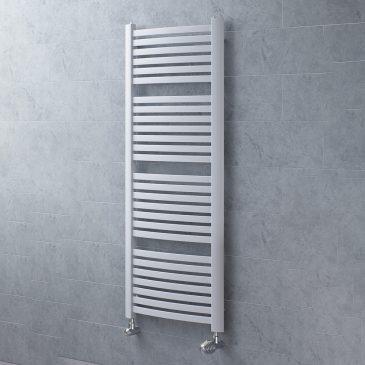 CROSBY Flat Tube Modern Heated Towel Rail / Warmer, White – Central Heating