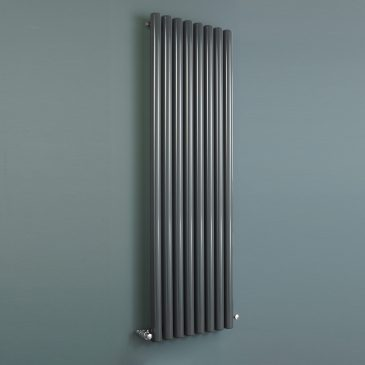 DRUID Hollow Round Tube Modern Designer Vertical / Horizontal Radiator- Central Heating, Anthracite