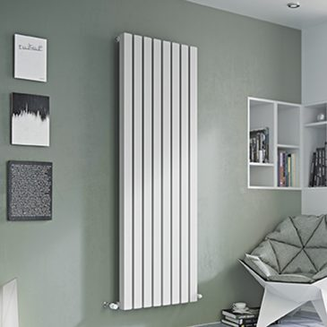 DRUID Hollow Square Tube Modern Designer Vertical / Horizontal Radiator – Central Heating WHITE