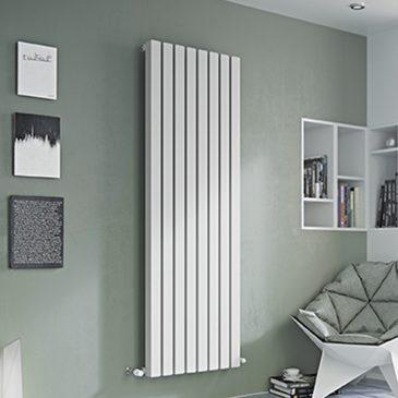 DRUID Hollow Square Tube Modern Designer Vertical / Horizontal Radiator – Central Heating WHITE