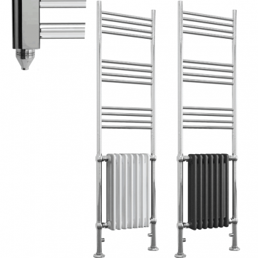 DUKE ELEMENTS Traditional Victorian Heated Towel Rail / Column Radiator – Electric