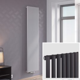 GUTHRIE EDGE Modern Designer Vertical Oval Tube Radiator, Tall – Central Heating