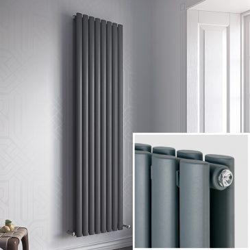 Guthrie Duo Oval Tube Vertical Designer Radiator