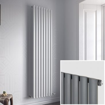 GUTHRIE SINGLE Modern Designer Vertical Oval Tube Radiator, Tall – Central Heating